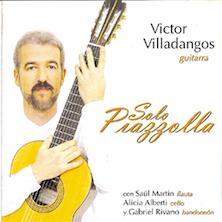 Acompañando al guitrrista Víctor Villadangos, guitarra en obras del compositor argentino Astor Piazzolla